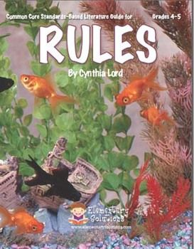Rules by cynthia lord literature guide common core aligned lessons a