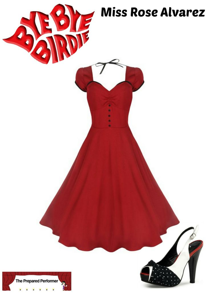Great idea for a Bye Bye Birdie audition outfit - Plus where to purchase these pieces : ) I want this dress!