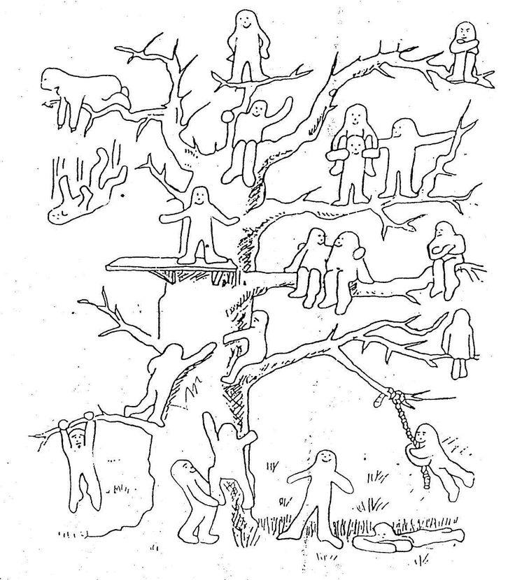 картинка методики человечки на дереве