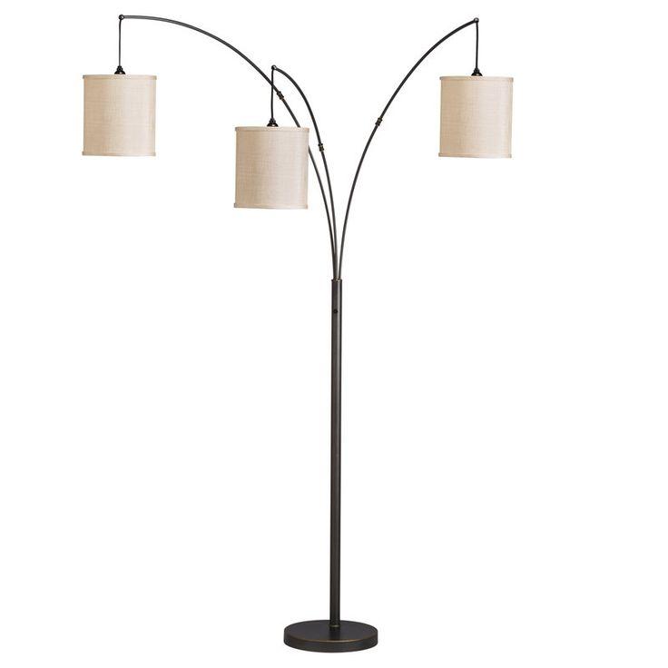 Kichler lighting light arc portable 3 light floor lamp shown in bronze finish