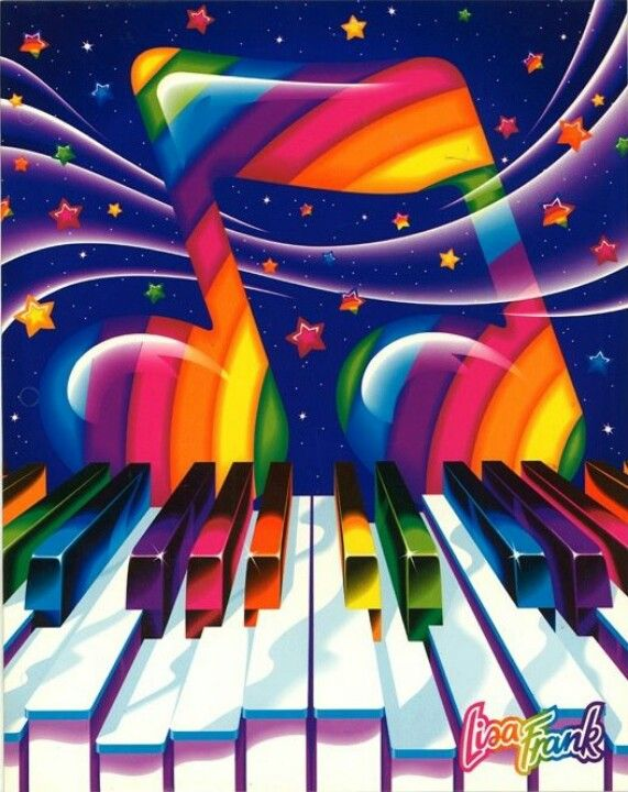 90's Lisa Frank Vibrant Rainbow Piano Music Folder ..... School Supply, Paper…