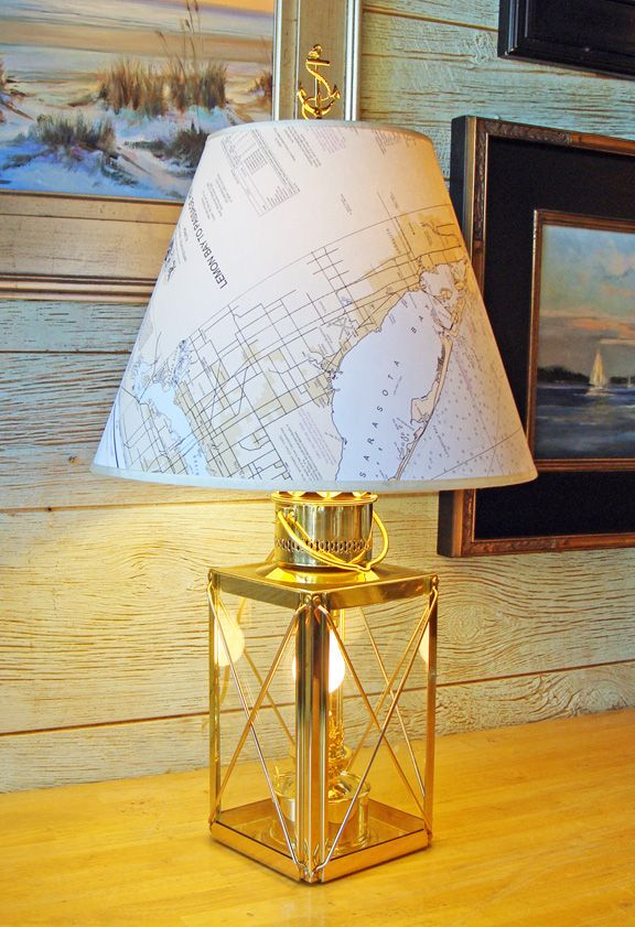 This Beautiful Brass Cargo Lantern Table Lamp Is The Perfect Light To Use  In Your Nautical Room And Coastal Home! Nautical Table Lamps From Skipjack  ...
