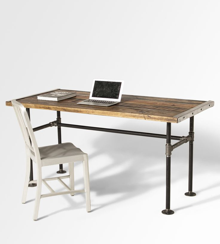 Best 25 reclaimed wood desk ideas on pinterest corner for Metal desk with wood top