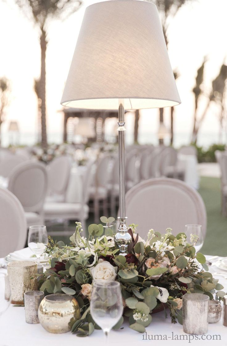 elegant cordless table lamps at a wedding in dubai elegant cordless lighting for events