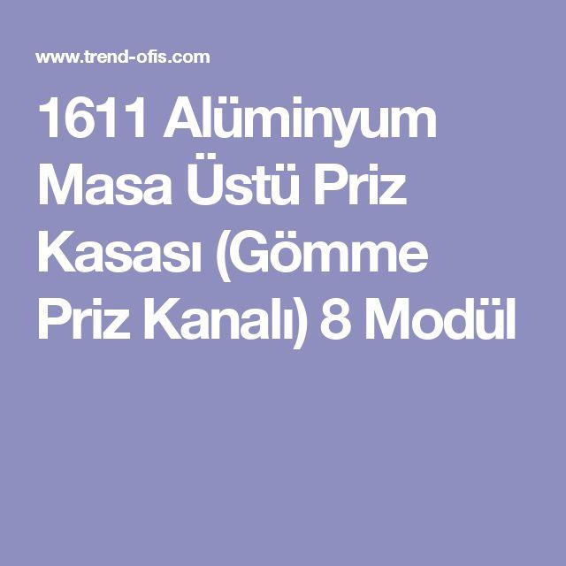 1611 Alüminyum Masa Üstü Priz Kasası (Gömme Priz Kanalı) 8 Modül