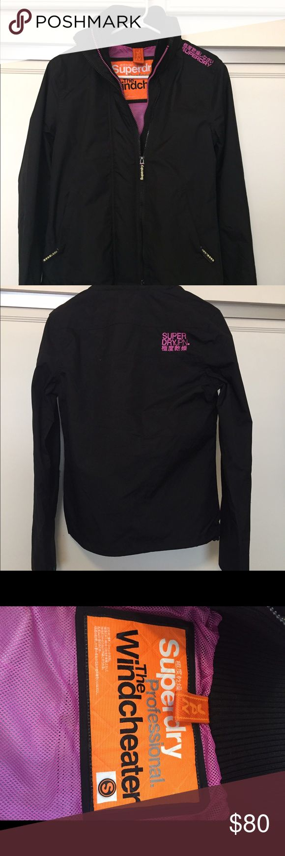 Superdry windcheater jacket NWOT Size small, black, New without tags Superdry Jackets & Coats