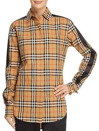 b742c9746a8 Burberry Saoirse Side-Stripe Check Print Shirt. Fits small  order one size  up