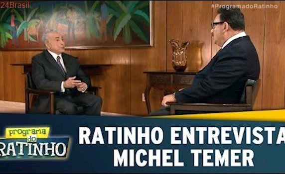 Ratinho entrevista o presidente Michel Temer | Programa do Ratinho (28/04/17)