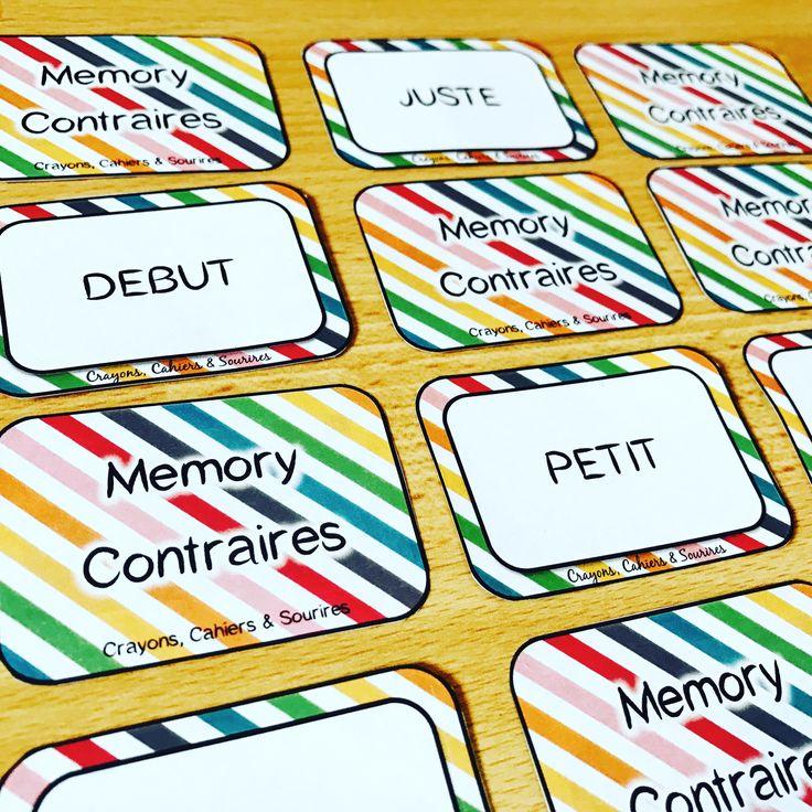 Memory français vocabulaire : contraires et synonyme #ce1 #ce2 #cm1 #cm2