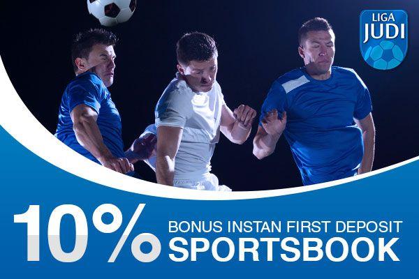 Bonus Instan 1st Deposit Sportsbook di Agen Bola Liga Judi.  Selengkapnya di http://ligajudi.info  #Promo #sportsbook #agenbola #LigaJudi: