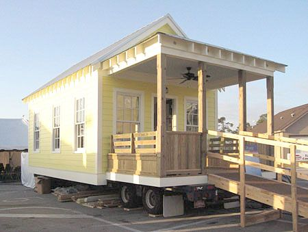 This Charming 'Katrina' Cottage Designed by Andres Duany for Displaced Residents | is a 300 Sq Ft Home Resistant to Mold Termite & Rot and Built to Withstand 140 MPH Winds & Has a DIY Materials Package Available Through Lowes