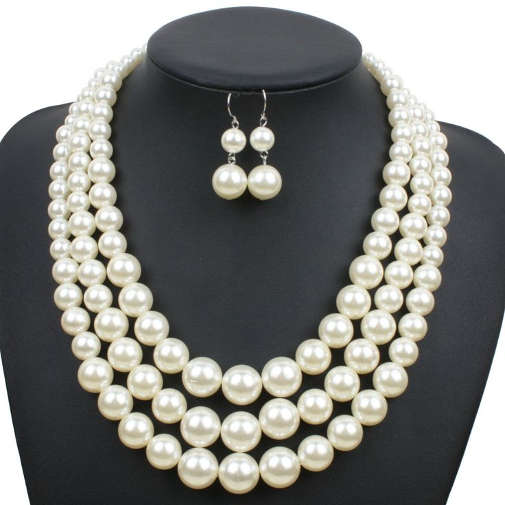 Multi Strand Pearl Necklace – 4 Colors