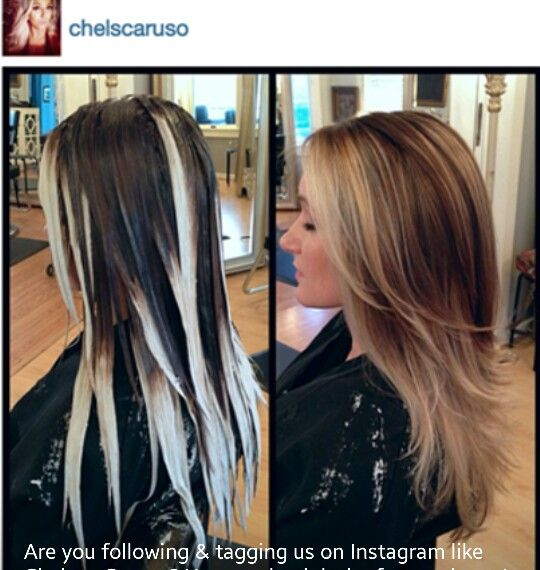 Balayage ombre, and yes, it needs highlights at the top & face framing lights as well.