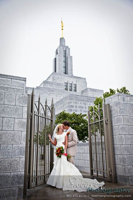 ***I LOVE THIS ANGLE, WE NEED TO FIND THIS GATE*** Draper Temple Wedding