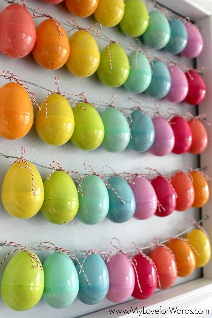Countdown to Easter...put a piece of paper in each egg with something to pray for and open one every day