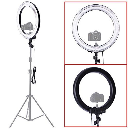 "Neewer Camera Photo/Video 18""Outer 14""Inner 600W 5500K Ring Fluorescent Flash…"