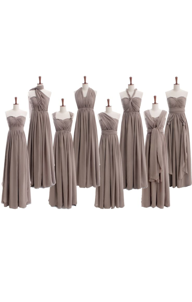 Fancy floor length alternate detailed chiffon bridesmaid dress styles