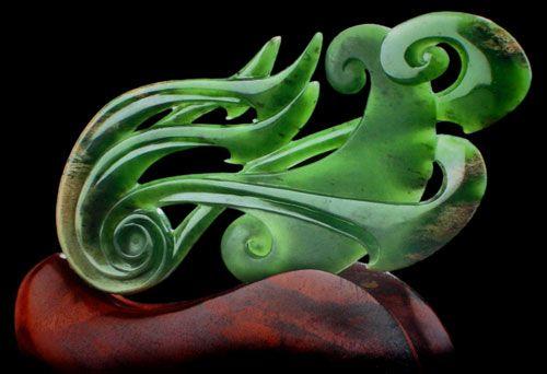Hepi Maxwell Jade Sculpture.  www.boneart.co.nz