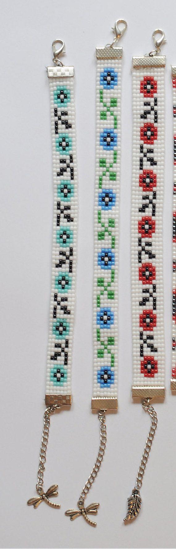 Bead loom bracelet Traditional bracelet Toho bead bracelet