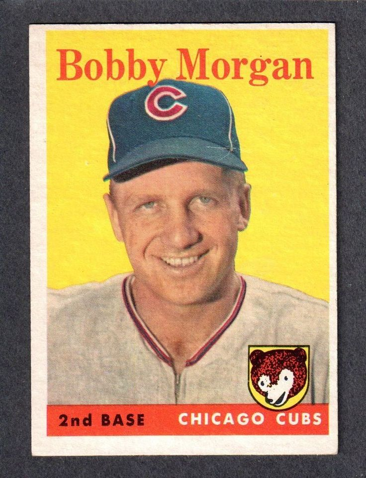 1958 TOPPS #144  Bobby Morgan  CHICAGO CUBS  EX-MINT   A