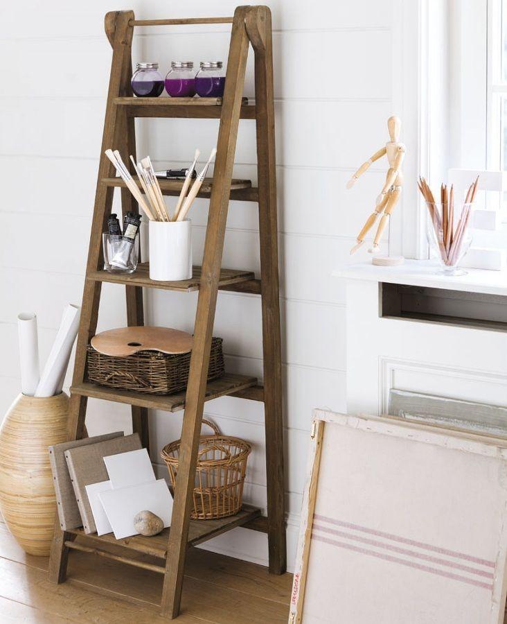 Escalera convertida en estanter a estanter as estantes - Estanterias en escalera ...