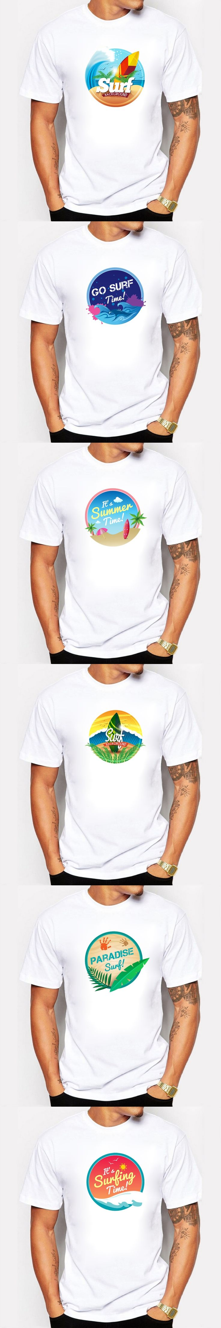 Summer Holiday Men's Short Sleeve Clothes Sunshine Palm Tree T-shirts Surffing Trooper T Shirts Casual Top Tees