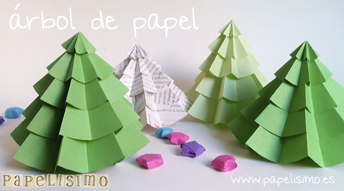 manualidades faciles arbol navidad papel diy paper christmas tree