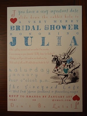 perfect bridal shower theme and invitation