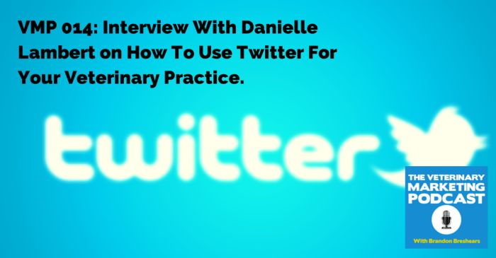 VMP 014: Interview With Danielle Lambert on How To Use Twitter For Your Veterinary Practice. | All Thing Marketing For the Veterinary Industry! | The Veterinary Marketing Podcast