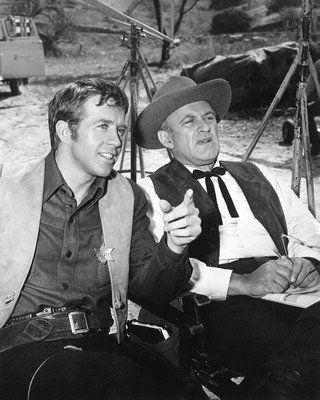 Lee J. Cobb and Clu Gulager  as Judge Garth and Sheriff Ryker  The Virginian