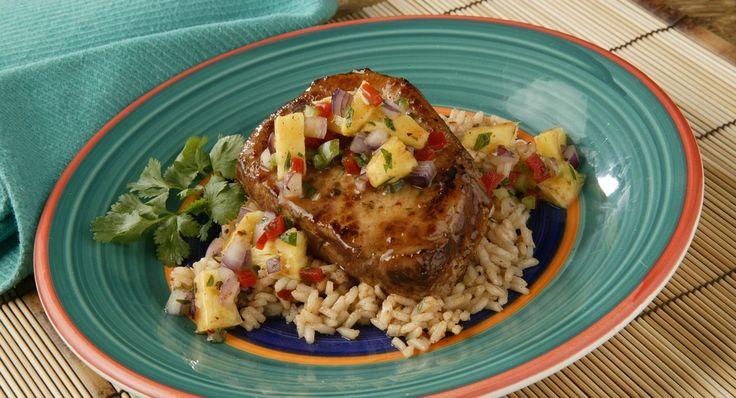 Pork Chops with Pineapple Salsa
