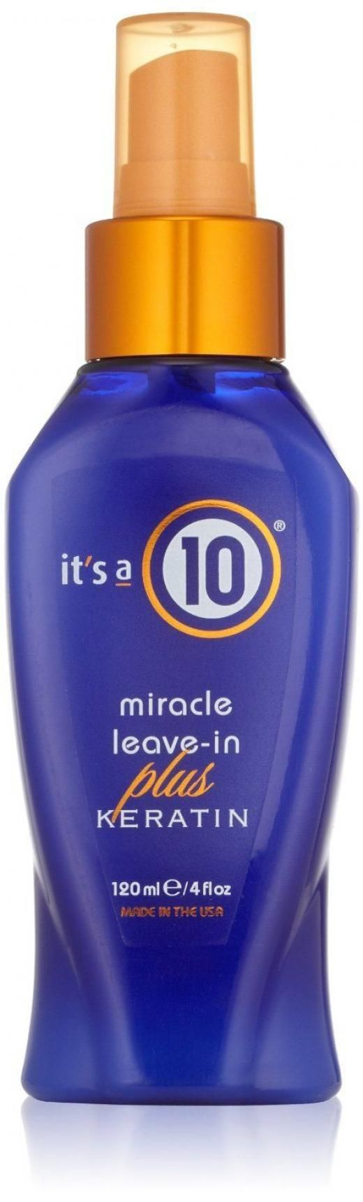 It's A 10 Its By Miracle Leave-in Plus + Keratin 4oz All Hair Unisex 4oz Maintenance Of Straightening Treatments Styling & Manageability Perfect For Types Replaces Lost Protein Protects The