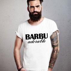 Barbu adorable : t-shirt pour homme s à xxl 100% fait-main