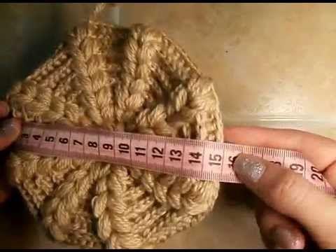 5  Как связать теплую шапочку,  тулья