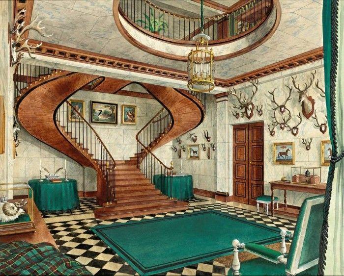 Alexander Serebryakov 'The interior of the Chateau de Grousset. Hallway'