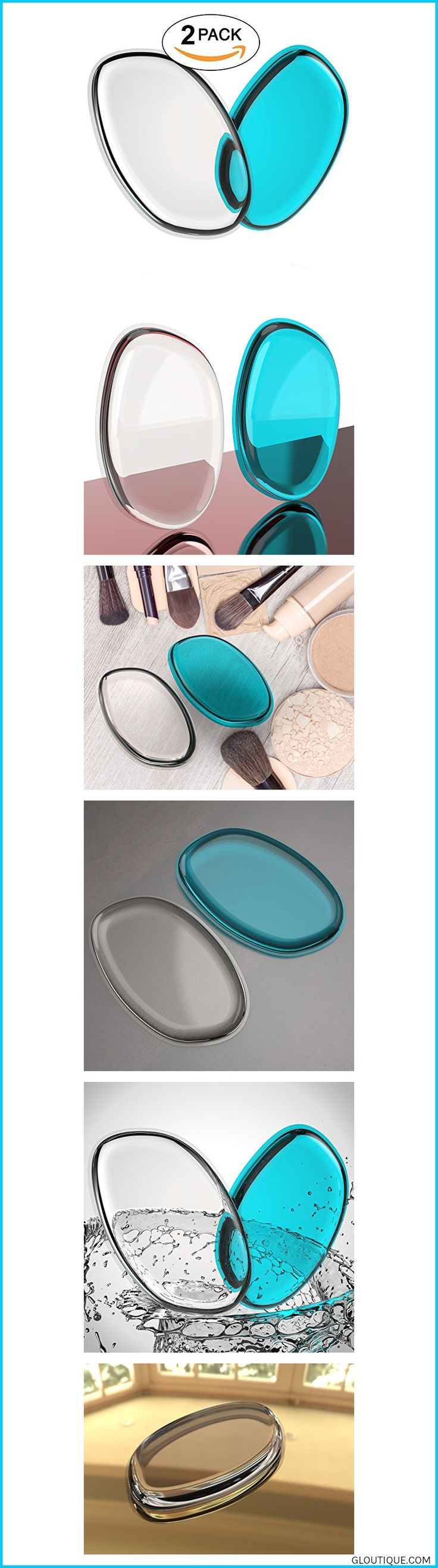 DO YOUR ENTIRE FACE WITH LESS THAN HALF THE PRODUCT - No more waste! A foundation sponge that preserves your valuable makeup products - this silicone #makeuptools #makeupartist #makeupbyme #organic #eyes #lips 2 Pack Premium Silicone Makeup Sponge - Beauty Sponge for Makeup, Concealer and Foundation - Make Up Blender Sponges, Foundation Applicator for Cosmetic Blending - Compare to SiliSponge #2 #Pack #Premium #Silicone #Makeup #Sponge #- #Beauty #Sponge #for #Makeup, #Concealer #and #