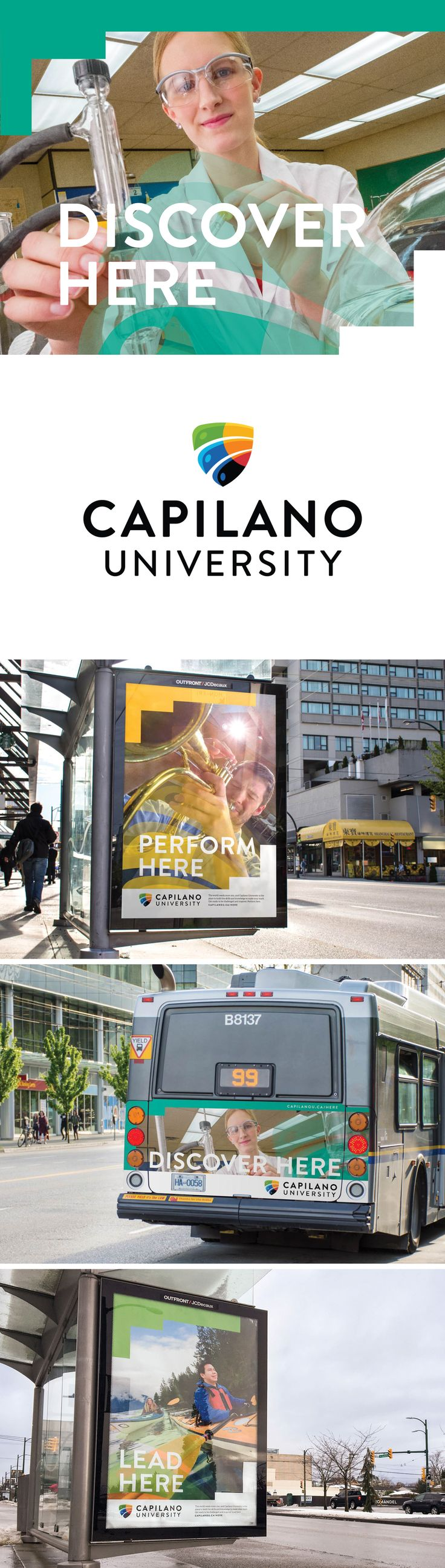 Brand launch campaign for Capilano University in North Vancouver, BC | Ion Brand Design #campaign #university #design #graphicdesign #education #outdooradvertising #branding