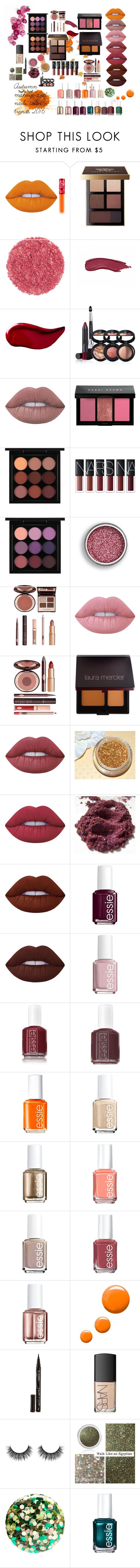 """Autumn makeup and nails color trends 2016"" by genesiscamilo on Polyvore featuring Belleza, Lime Crime, Bobbi Brown Cosmetics, Kat Von D, Laura Geller, MAC Cosmetics, Charlotte Tilbury, Laura Mercier, Essie y Topshop"