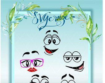 Visages mignons | Visage stupide SVG | Visages SVG | Les fichiers SVG | Visages souriants | Visages stupides | Sourire svg | Sourires dxf | Les yeux SVG | Ornement Svg