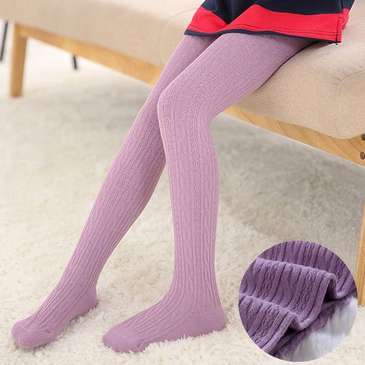 Infant Toddler Girls Tights Baby Girl Cotton Warm Pantyhose Kids Girls Candy Color Tights Spring Autumn Soft Knitted Stocking