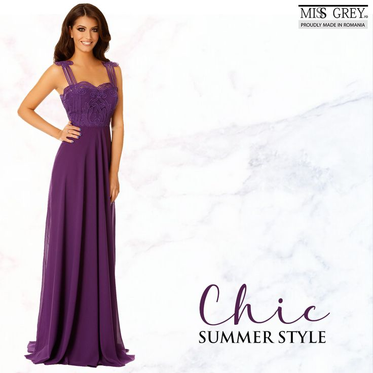 Choose to be original wearing the Irene purple dress whose design makes you think about the Greek goddesses!
