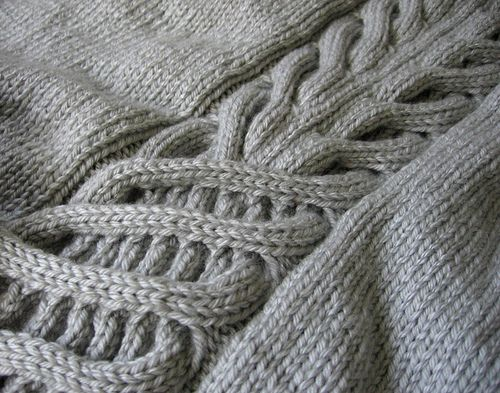 How To Knit A Cable Pattern : Cables - interesting how one cable progresses into another knit one, purl o...