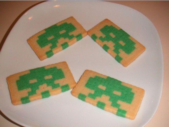 Space Invaders Cookies - for Matt's birthday