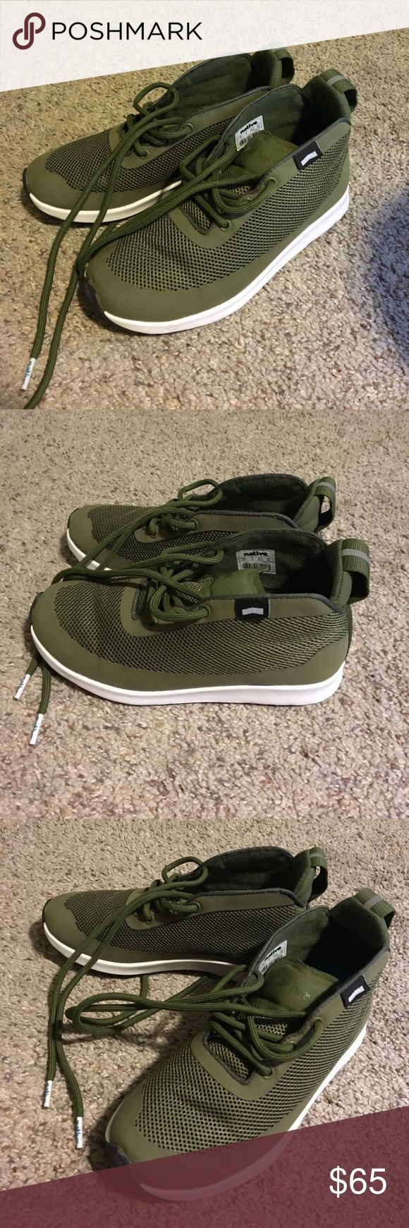 """Native Shoes Worn once, but they are too small for me. A TRUE size 6, would not fit a 6.5. Tag says US 4, but I believe that's men's sizing. Native is a """"beast free"""" brand, meaning they're based on being completely, 100% vegan and cruelty free with all of their shoes. Nordstrom Shoes Athletic Shoes"""