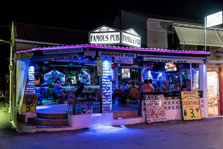 Kavos is the nightlife capital of Corfu and is especially popular with younger holidaymakers. With its neon-lit strip, packed with clubs and bars you're spoilt for choice. Whatever you're into, from thumping beats to themed or laid-back pubs or bars, here's where you'll find the action.