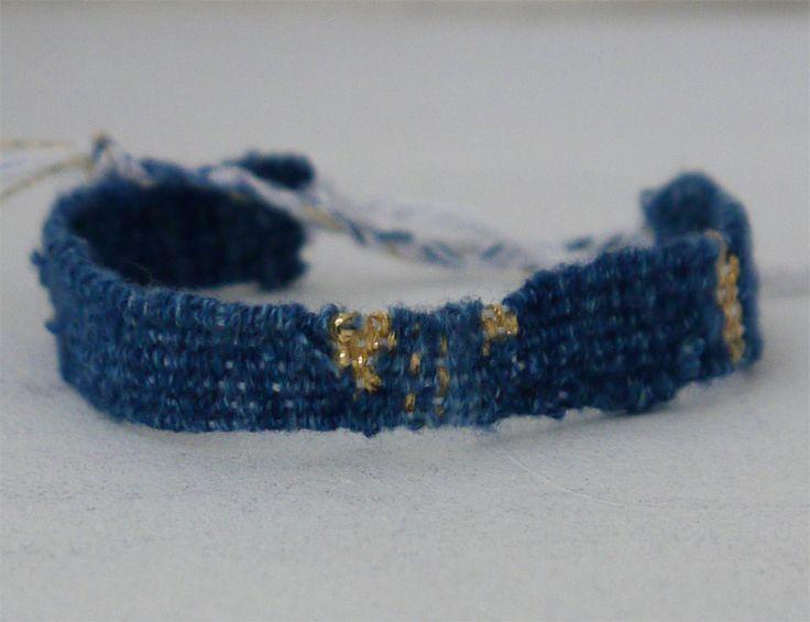 bracelet indigo LOOM bymbd
