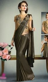 Black Color Fancy Knit,Net and Art Silk Embroidered Sari #silksareesonlineusa #kanchipuramsarees Heighten your charm with this black color net and art silk embroidered sari. The brilliant attire creates a dramatic canvas with terrific lace, patch, stoneswork. Upon request we can make round front/back neck and short 6 inches sleeves regular saree blouse also. USD $ 131 (Around £ 90 & Euro 100)