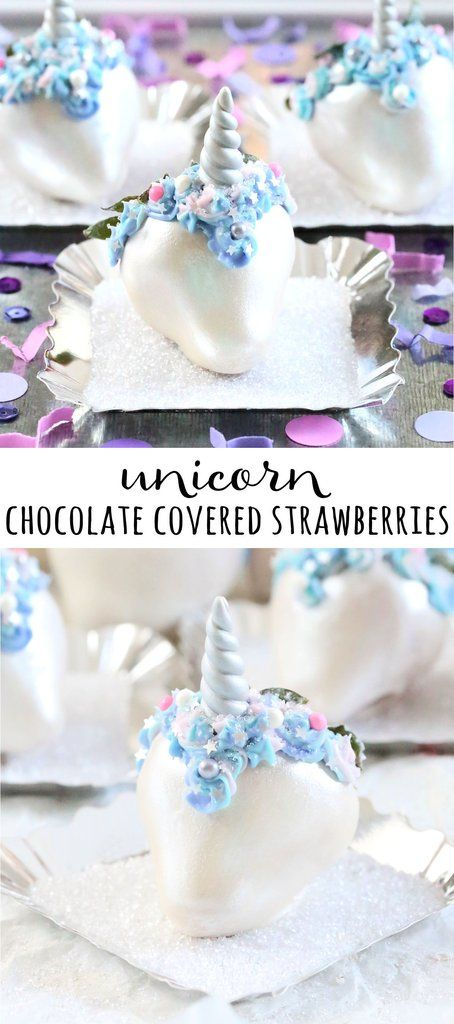 Transform strawberries into magical uniberries with our Unicorn Chocolate Covered Strawberry tutorial!   wwww.bakerspartyshop.com