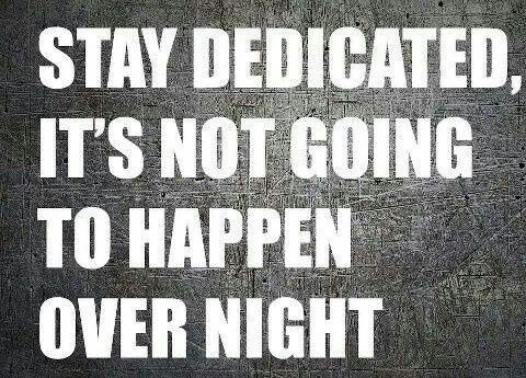Or next week... or next month.... or maybe this year. Just stay dedicated it will come, eventually.