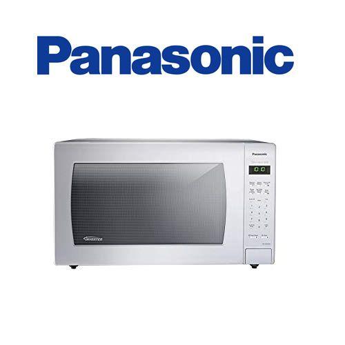 Panasonic 2 2 Cu Ft Countertop Microwave In Black Built In